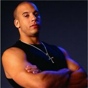 Fast And Furious Dominic Toretto Sterling Silver Cross Pendant Necklace Jewelry