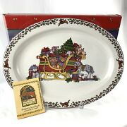 Susan Winget International China Over The Housetops 14 Inch Oval Platter 1998