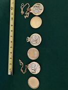 Watch-pocket -3 Watches All Working - 2 Elgin 1 Waltham All Working