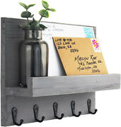 Decorative Key And Mail Holder For Walls - Stylish Rack With Hangers