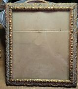 Vintage Antique Gesso Gilded Gold Swag Pattern Picture Frame 12.75 X 11 Outer