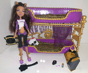 Mattel Monster High Room To Howl Bunk Bed And Dead Tired Clawdeen. Creepy Cool