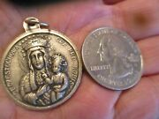 Vintage French Pope John Paul Ii And Black Madonna Religious Medal Pendant Lot F2