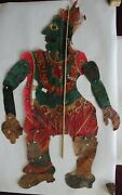 Antique Leather Shadow Puppet Rare Collectible Piece Of Folk Art Bharat