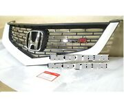 Oem Nh624p 06-07 Euro R Front Grille + Euro Emblem Honda Accord Cl7 Cl9 Acura