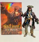 Captain Jack Sparrow Hot Toys Pirates Of The Caribbean Action Figure 1/6 Rare