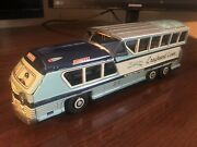 Tin Friction 1950and039s Greyhound Lines Scenicruiser Express Bus Nomura Tn Japan Toy