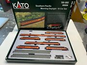 Kato Southern Pacific Morning Daylight 10 Car Set N Scale 106-060 With Unitrack