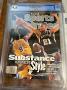 May 31 1999 Tim Duncan Kobe Bryant First Rc Sports Illustrated No Label Cgc 9.6