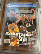 May 31 1999 Tim Duncan Kobe Bryant First Rc Sports Illustrated No Label Cgc 9.4