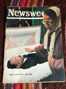 Newsweek April 15 1968 Martin Luther King, Jr. Funeral Rioting Kool Back Page Ad
