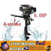 4-stroke 6hp Outboard Motor Fishing Boat Engine Single Cylinder Air Cooling 1.2l