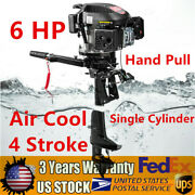 Hangkai Outboard Engine Marine Boat Motor 6hp 4stroke 2500rpm Air Cooling System