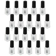 20 X Black Plastic And Transparent Glass Clear Empty Nail Polish Bottles