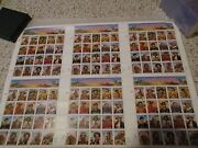 Scott 2869 Signed/numbered Legends Of The West Uncut Press Sheet With Coa