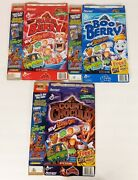 Vintage Monster Cereal Boxes Lot Boo Berry Frankenberry Count Chocula Scooby Doo