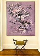 Vintage Mid Century Abstract Expressionist Painting Louis Tavelli 1914-2010
