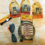 Lot Of Boss Audio Systems Distribution Fuse Block Dfb-2 And Db Link Cables