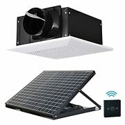 Siplcn 12'' Solar Ceiling Exhaust Fan With Remote Control, Quiet Ventilation Sys