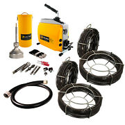 Steel Dragon Toolsandreg K60 Drain Cleaning Machine With Extra C8 And C10 Cables
