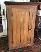 Antique Hudson Valley Pine Jelly Cupboard