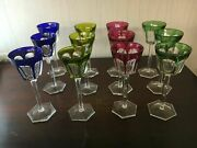 12 Harcourt Colored Baccarat Crystal Wine Glasses Price Per Piece