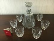 Lot Decanter And 7 Liqueur Glasses In Baccarat Crystal Lot Price