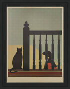Will Barnet The Bannister 1981   Hand Signed Lithograph   Framed   40 Off