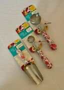 The Pioneer Woman Stainless Steel 3 Pc Set Ice Cream Cookie Dough And Scoop Set