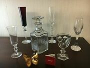 6 Sets Of 5 Glasses 1 Butterfly 1 Baccarat Crystal Decanter Price For 1 Set