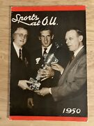 """1950 """"historic""""sports At Ou Oklahoma Sooners 2nd Ever Media Guide-54 Pg Classic"""