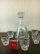 Lot 1 Talleyrand Decanter With 6 Liqueur Glasses In Baccarat Crystal