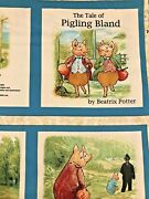 Beatrix Potter Pigling Bland Panel Sewing Fabric Book Panels Quilting Treasures