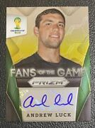 2014 Panini Card Prizm World Cup Fans Of The Game Auto Andrew Luck