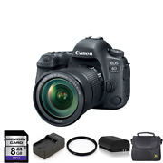 Canon Eos 6d Mark Ii Dslr Camera With 24-105mm + 2 Batteries, 8gb And More