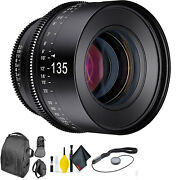 Rokinon Xeen 135mm T2.2 For Pl Mount + Deluxe Lens Cleaning Kit