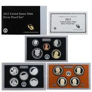 2012 S Proof Set Original Box And Coa 14 Coins 90 Silver Quarters Kennedy Us Mint