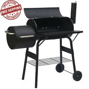 46 Outdoor Bbq Grill Charcoal Barbecue Pit Patio Backyard Meat Cooker And Smoker