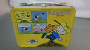 Vtg 1965 Peanuts By Schulz Tv Show Cartoon Metal Lunchbox Good Used Yellow