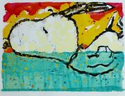 Tom Everhart Bora Bora Boogie Oogie Snoopy Peanuts Hand Signed Lithograph