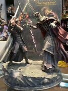 Sideshow Exc. Statue Aragorn Vs King Of The Dead 96/300 The Lord Of The Rings