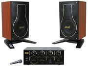 Bmb Dah-100 200w Bluetooth Amp Csh-200 8 Speakers And Nkn-300 Wired Microphone