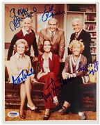 Mary Tyler Moore Show Cast Signed 8 X 10 Photo Psa