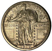 1917 Standing Liberty Quarter Type-1 Choice Ms, Fh Uncertified