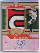 2020 Panini Card Joe Burrow Plates And Patches Rookie Letter Patch Autograph