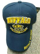 Buffalo Soldiers Dark Blue Baseball Cap New Us Army Embroidered Acrylic Hat