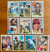 Various 1968 And 1969 Topps Signed Cards Autographed You Pick Free Ship