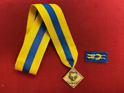 Vintage Cub Scout Leader Medal / Award - Cub Scouter Award W/ Knot [gt1479]