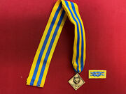 Vintage Cub Scout Leader Medal / Award - Cub Scouter Award W/ Knot [gt1480]