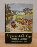 Rhymes Of The Old Cape By Joseph C. Lincoln, 1939 1st Edition Hc/dj